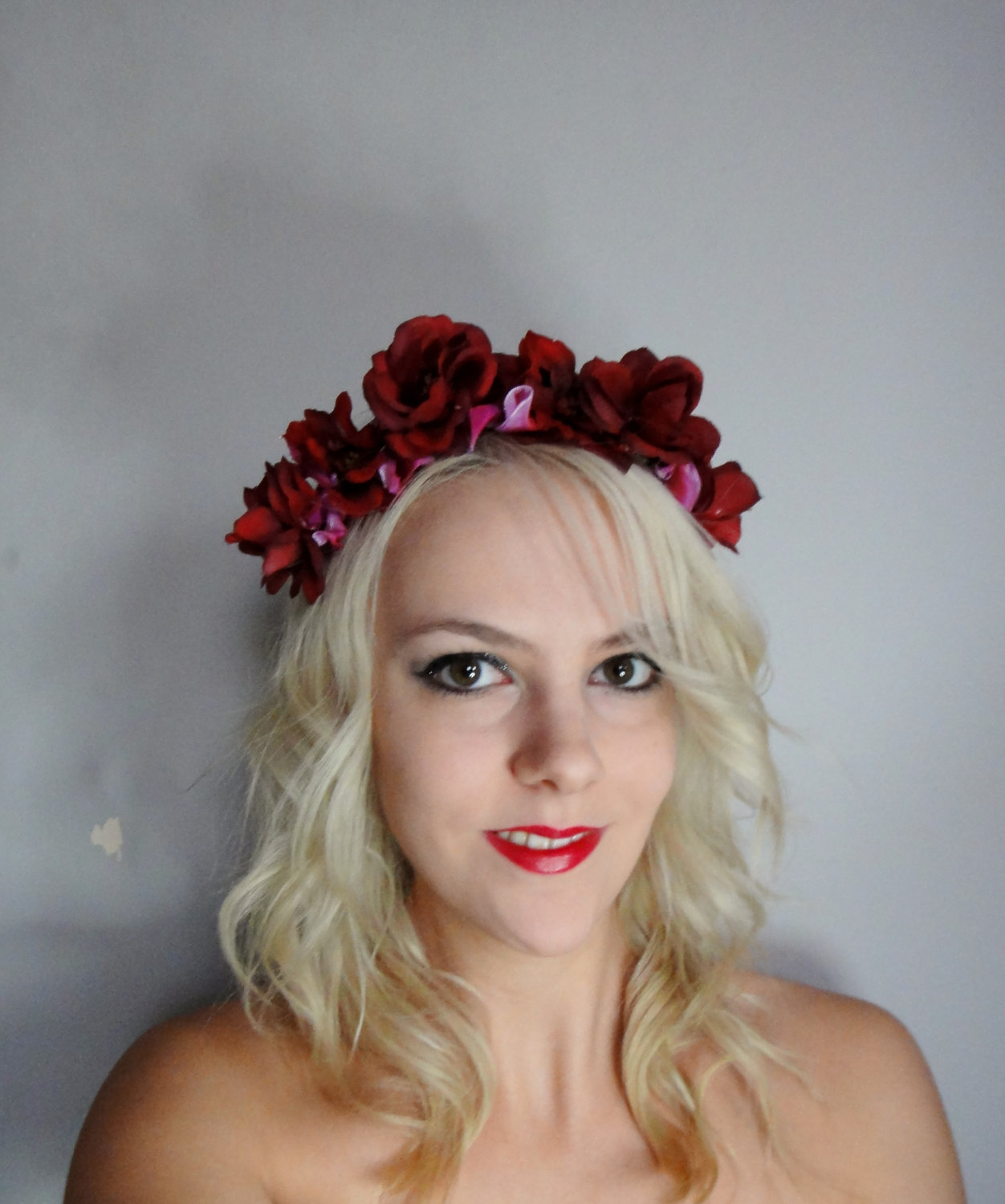 Red Rose Floral Blossom Headband on Luulla a30f51a3afd